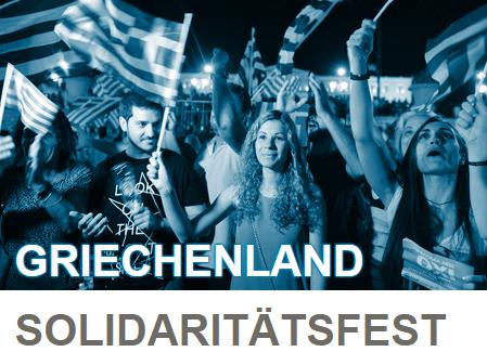 Griechenland Solidaritätsfest