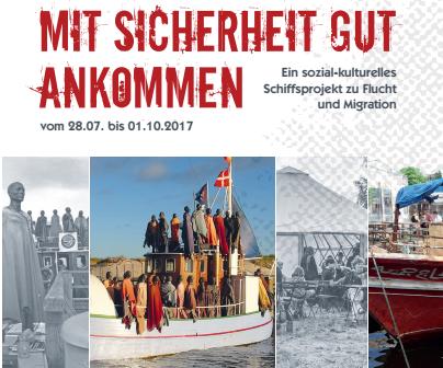 Mit Sicherheit gut ankommen. Ein sozial-kulturelles Schiffsprojekt zu Flucht und Migration., http://osnabrueck-alternativ.de/wp-content/uploads/2017/08/Flyer_Osnabruueck_Final.pdf