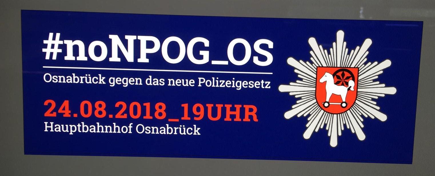 NEIN ZUM NEUEN NIEDERSÄCHSISCHEN POLIZEIGESETZ